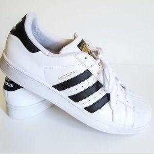 Like NEW Adidas Allstar Black & White Sneakers 8